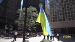 Прапор України підняли над Чикаго з нагоди дня Незалежності