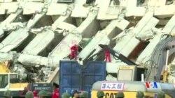 2016-02-07 美國之音視頻新聞: 台灣繼續搜尋地震生還者