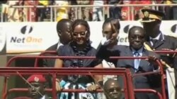 穆加貝宣誓連任津巴布韋總統