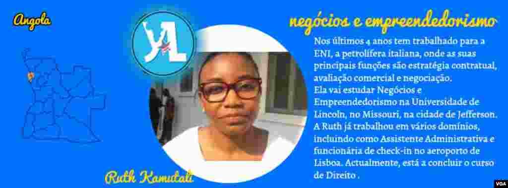 Ruth Kamutali, YALI 2016, Angola