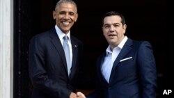 Predsednik SAD Barak Obama i premijer Grčke Aleksis Cipras