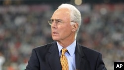 Beckenbauer, mantan kapten Bayern Munchen dan kesebelasan nasional Jerman, dewasa ini menjabat ketua Task Force FIFA (foto: Dok.).