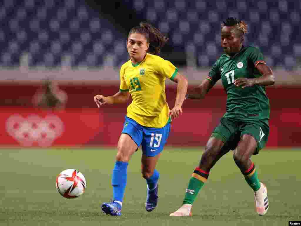 Soccer Football - Women - Group F - Brazil v Zambia