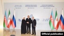 İlham Əliyev, Vladimir Putin və Həsən Ruhani