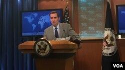 美国国务院发言人柯比(美国之音叶林拍摄)