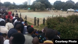 Wafuasi wa chama cha CHADEMA wakiwa kwenye uwanja wa Soweto Arusha
