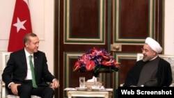 دیدار حسن روحانی رئیس جمهوری ایران و رجب طیب اردوغان نخست وزیر ترکیه در تهران - ۹ بهمن ۱۳۹۲