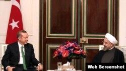دیدار حسن روحانی رئیس جمهوری ایران و رجب طیب اردوغان نخست وزیر وقت ترکیه در تهران - ۹ بهمن ۱۳۹۲