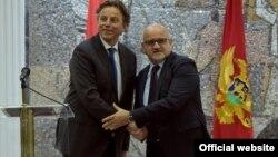 Ministri inostranih poslova Holandije i Crne Gore, Bert Kunders i Srđan Darmanović (gov.me/S.Matić)