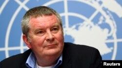 Майк Раян, виконавчий директор Всесвітньої організації охорони здоров'я під час прес-конференції у Женеві, де міститься штаб-квартира організації