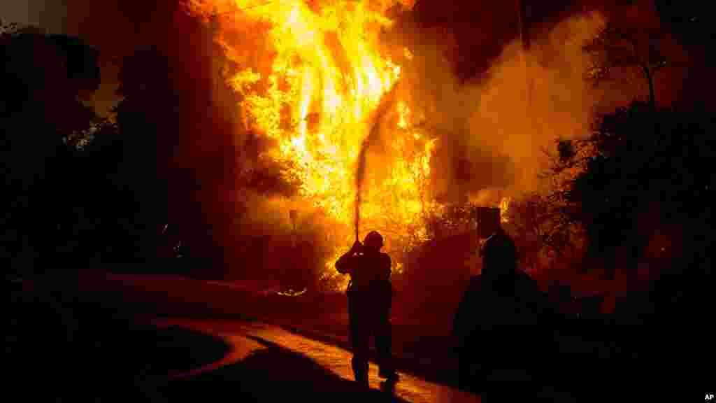 L'incendie Blue Cut en Californie, le 17août 2016.