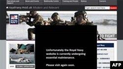 Các tin tặc đã xâm nhập vào trang web của Hải quân Anh khiến trang này buộc phải ngưng hoạt động