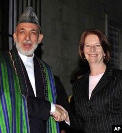 Afg'oniston rahbari Hamid Karzay, Avstraliya Bosh vazirasi Juliya Gillard