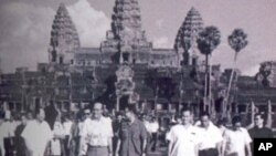 Democratic Kampuchea leaders with foreign delegation in Siem Reap.