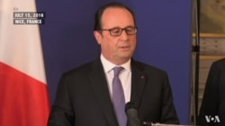 French President Francois Hollande Addresses Nation
