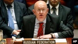 俄罗斯常驻联合国代表内本西亚2018年9月17日在联合国安理会上发言