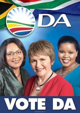 A DA election poster for the 2011 municipal elections. The opposition party is convinced it'll capture South Africa's biggest city, Johannesburg on May 18