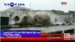 Bão Maria càn quét Trung Quốc