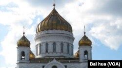 莫斯科的救世主大教堂(美國之音白樺拍攝)