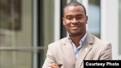 FILE - Liberian former youth leader Benjamin Sanvee.
