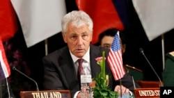 美國國防部長哈格爾8月29日在文萊舉行的東盟防長會議上
