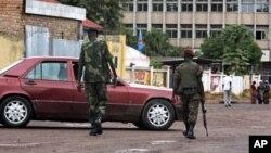 Des militaires de l'armée congolaise à Kinshasa