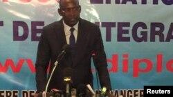 Le ministre malien des Affaires étrangères Abdoulaye Diop, à Bamako, le 19 décembre 2016.