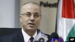 Le Premier ministre palestinien Rami Hamdallah à Ramallah le 16 janvier 2017.