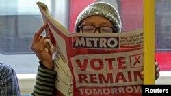 مردم بریتانیا برای همه پرسی فردا، پنجشنبه ۲۳ ژوئن ۲۰۱۶، آماده میشوند؛