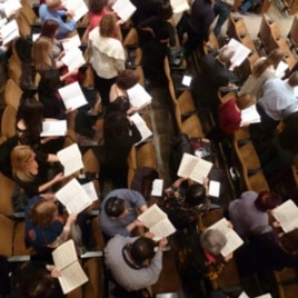 "Most of the ""Messiah Sing-In"" participants bring their own scores."