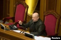 成为乌克兰新议长随后又出任临时总统的亚历山大•图奇诺夫。