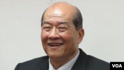 台湾台联党主席 黄昆辉(美国之音张永泰拍摄)