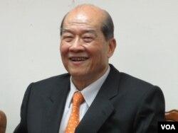 台灣台聯黨主席 黃昆輝(美國之音張永泰拍攝)