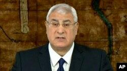 Adly Mansour a annoncé dimanche que l'élection présidentielle aura lieu avant les législatives