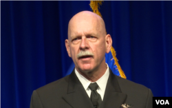 美国太平洋舰队司令斯威夫特上将(美国之音黎堡拍摄)