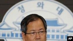 한국 청와대의 천영우 외교안보수석 (자료사진)