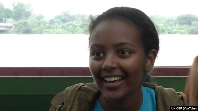 UNICEF national ambassador to Ethiopia Hannah Godefa