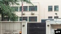 Konsula y'Amerika mu gisagara ca Chengdu mu Bushinwa. Ifoto yafashwe tariki 23/07/2020