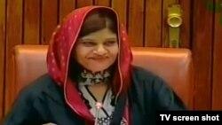 پاکستان پیپلز پارٹی سے تعلق رکھنے والی سینیٹر کرشنا کماری خواتین کے عالمی دن کے موقع پر سینیٹ کے اجلاس کی صارت کر رہی ہیں۔ 8 مارچ 2019