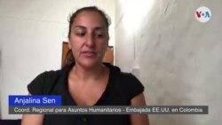 Anjalina Sen, Coordinadora Regional para Asuntos Humanitarios, de la embajada de EE.UU. en Colombia
