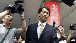 29일 4년만에 열린 북·일 정상회담에 참석하기 위해 중국 베이징 공항에 도착한 오노 게이이치 일본 외무성 동북아시아 과장.