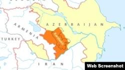 Dağlıq Qarabağ -xəritə