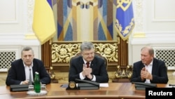 Ахтем Чийгоз, Петр Порошенко и Ильми Умеров