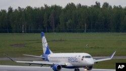 벨라루스의 벨라비아 항공사 여객기.