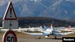 Une vue sur l'aérodrome de Sisteron, en France, le 27 mars 2015.