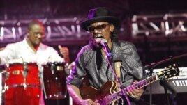 Guitarist Chuck Brown of the U.S. performs on the final day of the 20th St. Lucia Jazz Festival at Pigeon Island. (File Photo - May 8, 2011)