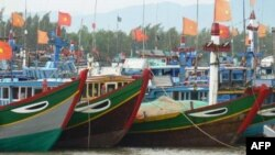Tàu đánh cá của ngư dân ở tỉnh Quảng Ngãi.