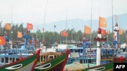Tàu đánh cá của ngư dân ở tỉnh Quảng Ngãi, Việt Nam