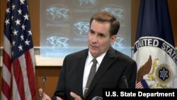 امریکی محکمہ خارجہ کے ترجمان جان کربی (فائل فوٹو)