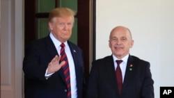 Rais Donald Trump akimkaribisha Rais wa Uswisi Ueli Maurer White House, Washington, Alhamisi, Mei 16, 2019